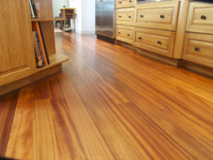 hard wood floor in african mahogany
