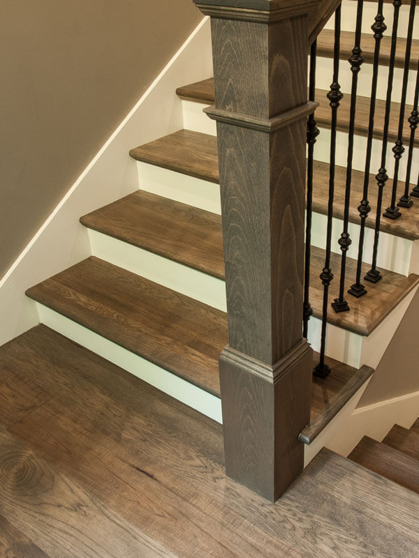 hardwood stairs done by Real Wood Floors